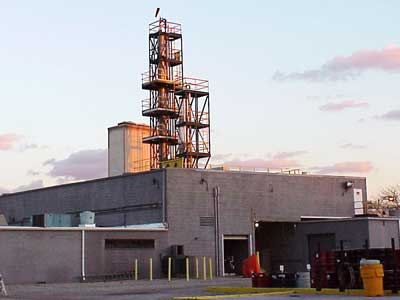 Our Chicago, Illinois, recycling facility has six distillation columns, one liquid-to-liquid extractor and one mole sieve dryer.